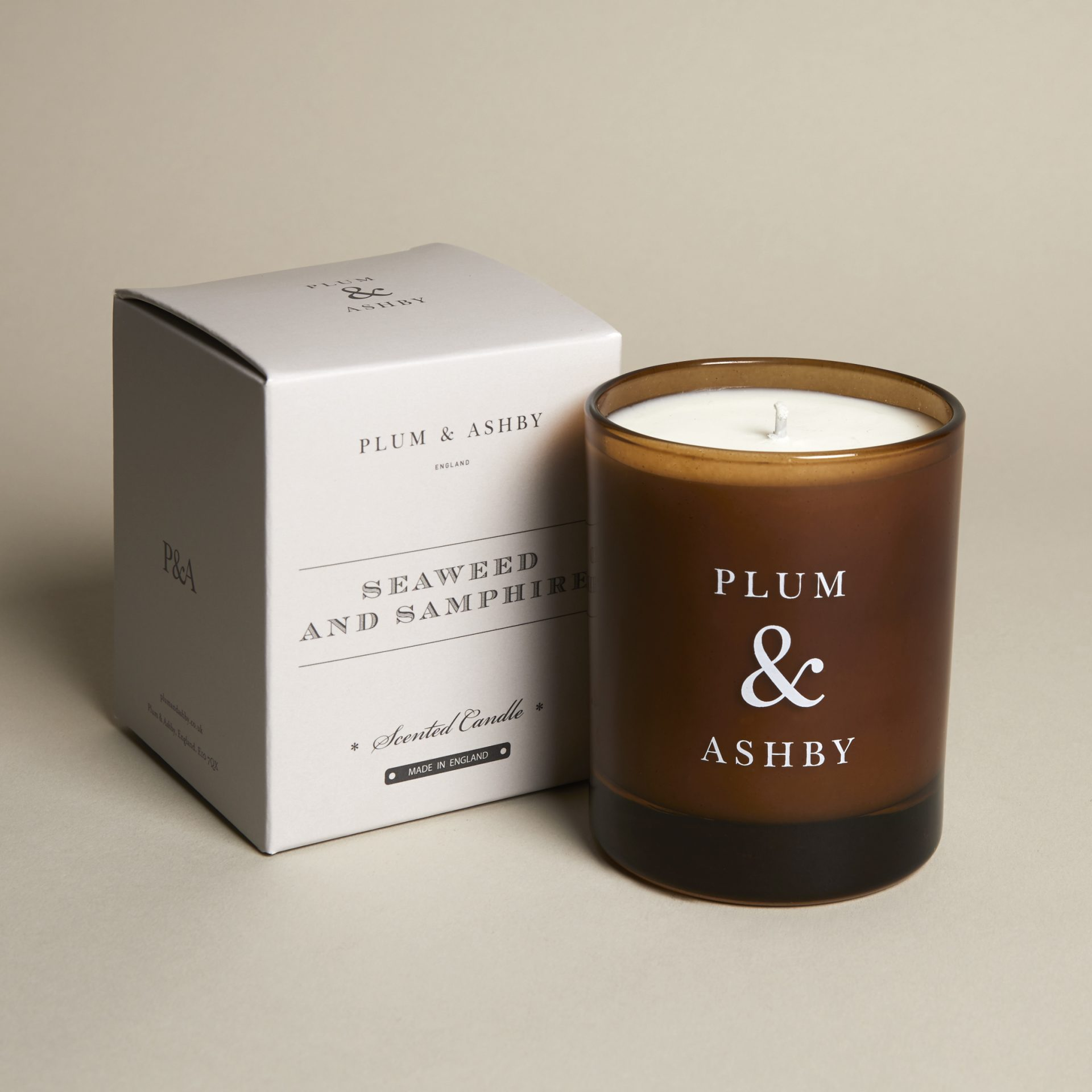 Plum and Ashby Seaweed & Samphire Scented Candle