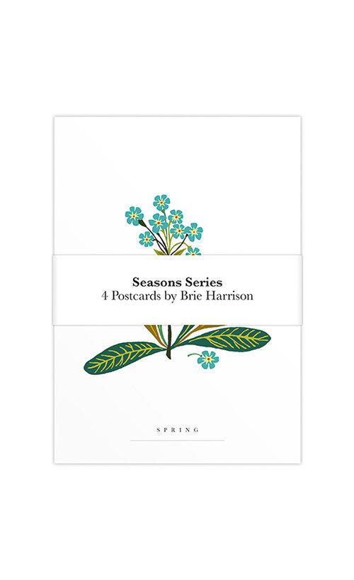 Brie Harrison Seasons Series Art Postcard Pack