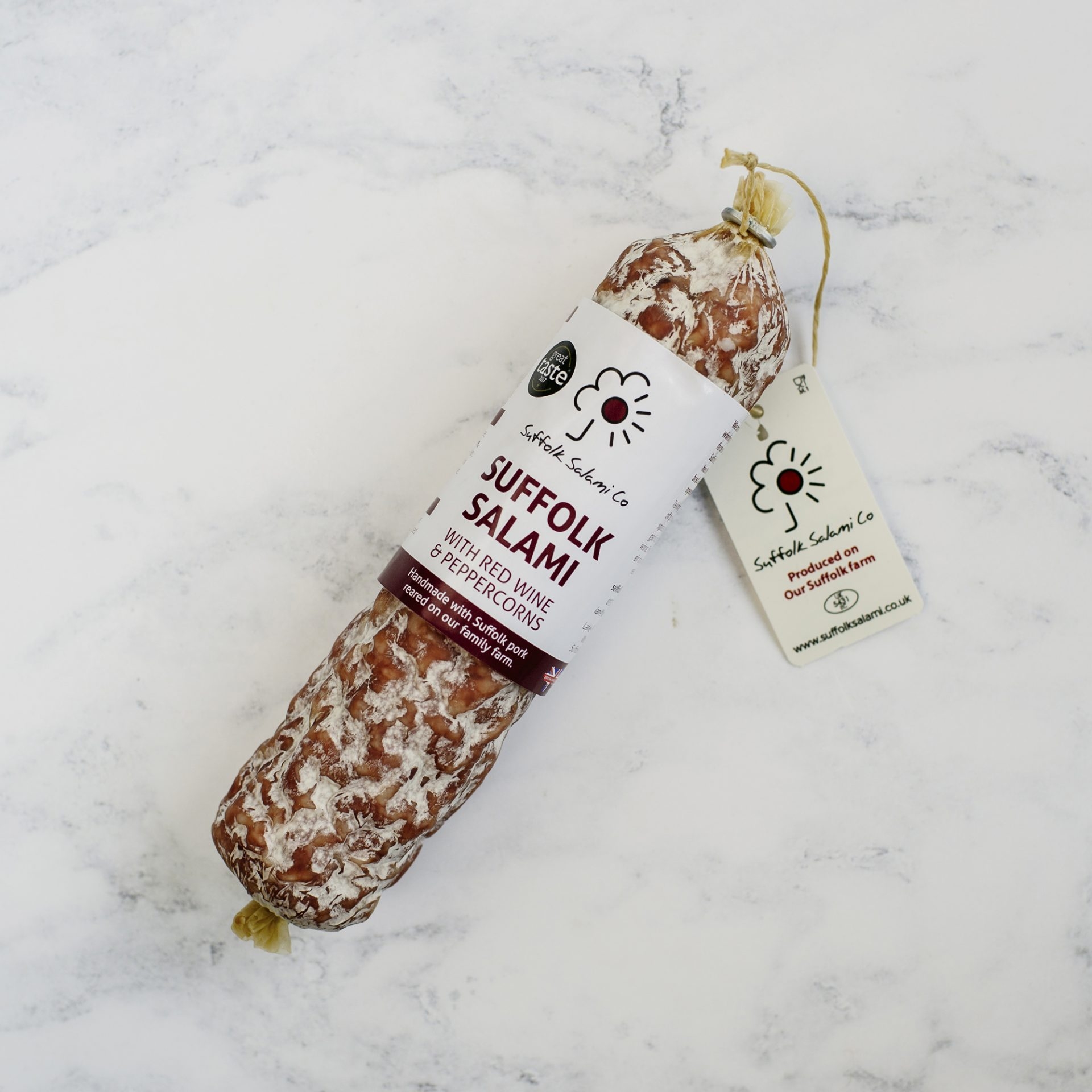 Suffolk Salami with Red Wine and Peppercorns