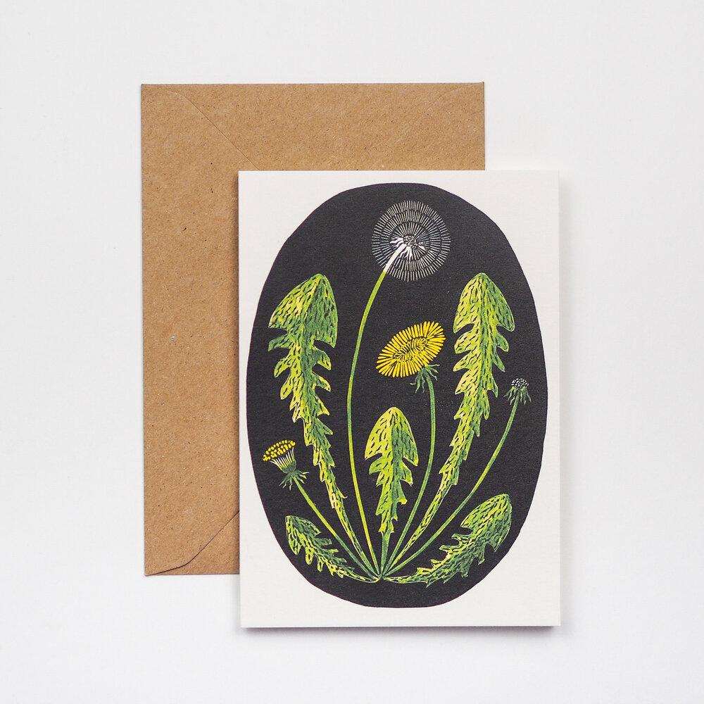 Hadley paper Goods Dandelion Card